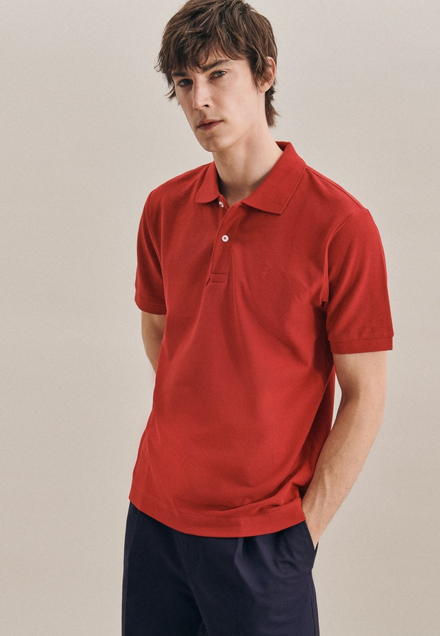Polo-Shirt Slim aus 100% Baumwolle in Rot |  Seidensticker Onlineshop