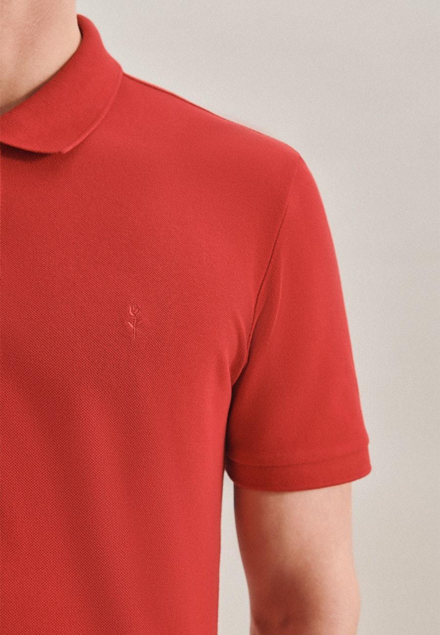 Polo-Shirt Slim aus 100% Baumwolle in Rot    Seidensticker Onlineshop