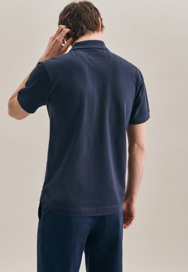 Polo-Shirt Slim made of 100% Cotton in Dark blue |  Seidensticker Onlineshop