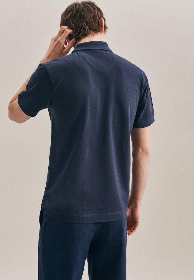 Polo-Shirt Slim aus 100% Baumwolle in Dunkelblau |  Seidensticker Onlineshop