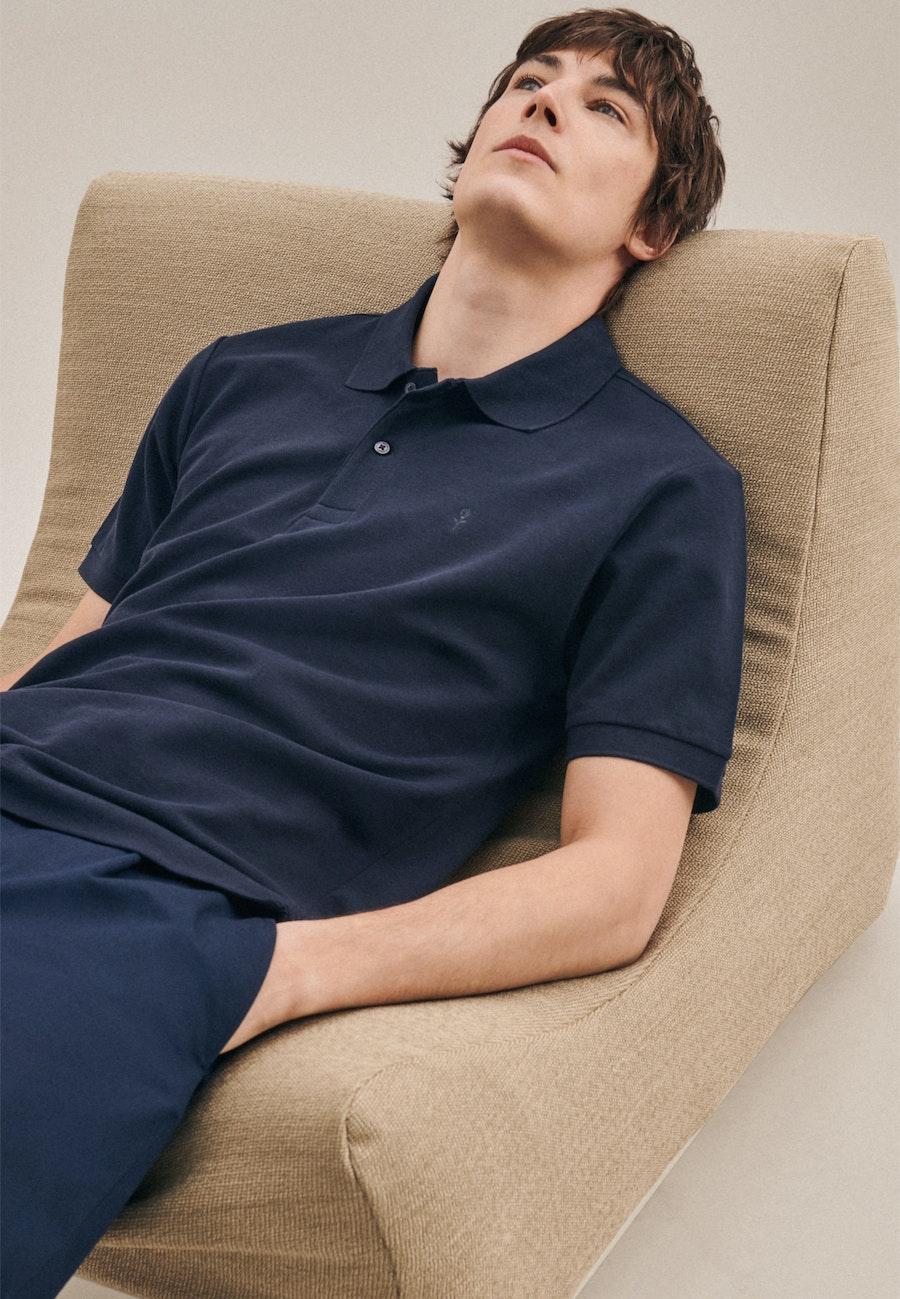 Polo-Shirt Slim made of 100% Cotton in Dark blue |  Seidensticker Onlineshop