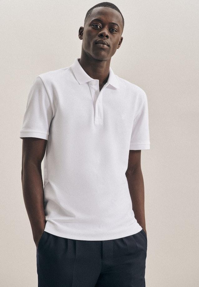 Polo-Shirt Slim aus 100% Baumwolle in Weiß |  Seidensticker Onlineshop