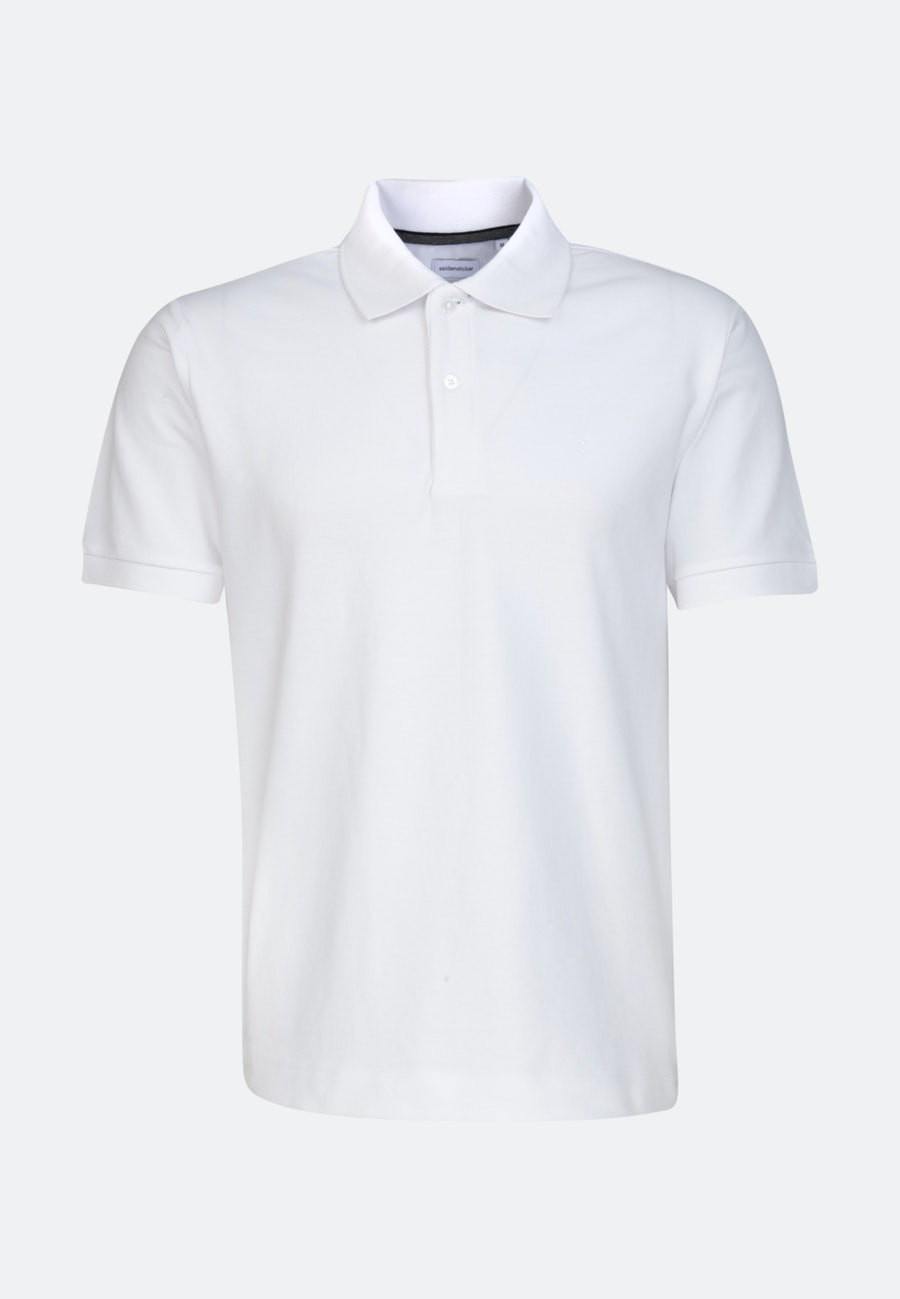 Polo-Shirt Slim made of 100% Cotton in White |  Seidensticker Onlineshop