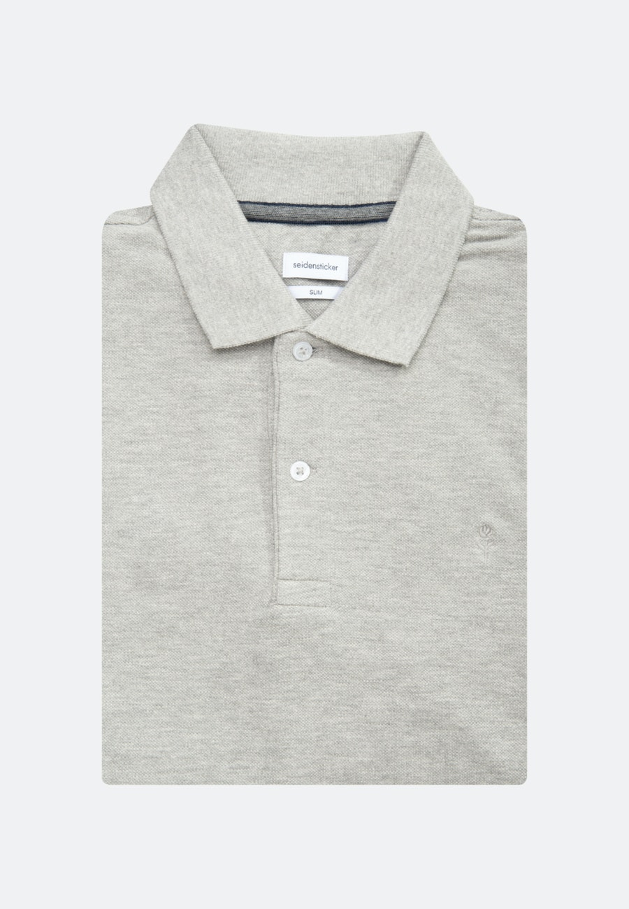 Polo-Shirt Slim made of 100% Cotton in Grey |  Seidensticker Onlineshop