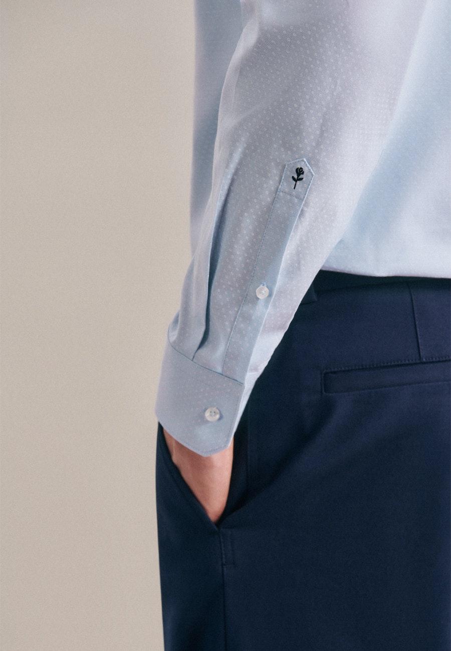 Bügelleichtes Oxford Business Hemd in Regular mit Kentkragen in Hellblau |  Seidensticker Onlineshop