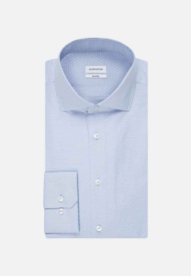 Bügelleichtes Oxford Business Hemd in Shaped mit Kentkragen in Hellblau    Seidensticker Onlineshop