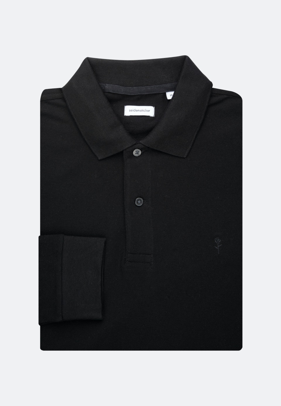 Long sleeve Polo-Shirt Shaped made of 100% Cotton in Black |  Seidensticker Onlineshop