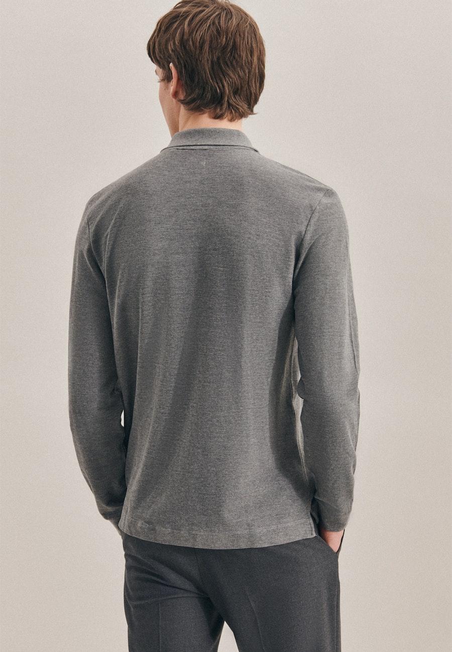 Polo-Shirt aus 100% Baumwolle in Grau |  Seidensticker Onlineshop