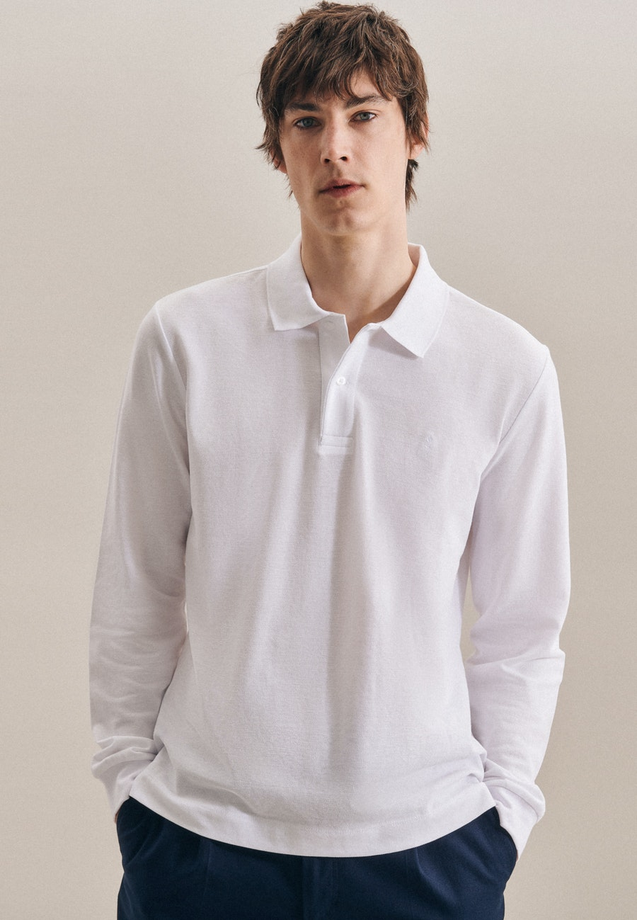 Polo-Shirt Shaped made of 100% Cotton in White    Seidensticker Onlineshop
