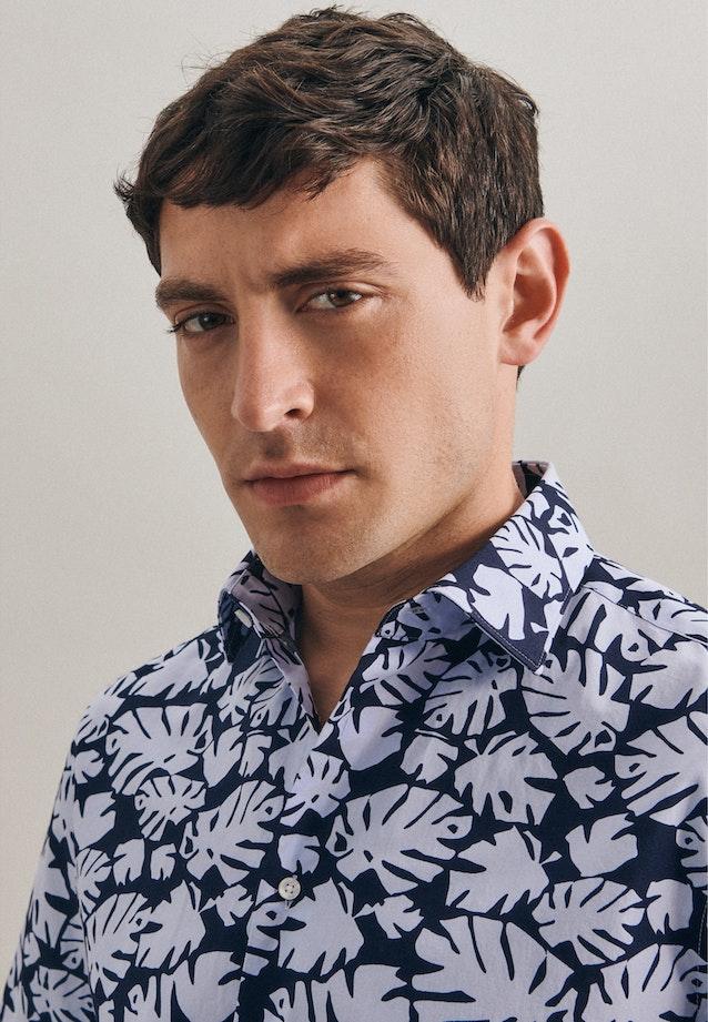 Bügelleichtes Popeline Kurzarm Business Hemd in Slim mit Kentkragen in Hellblau    Seidensticker Onlineshop