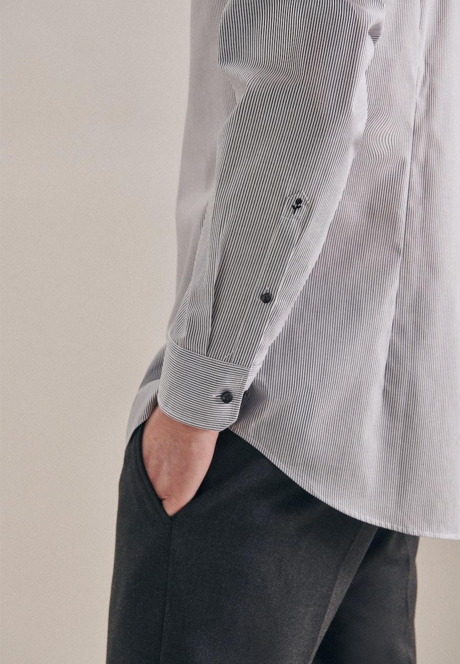 Bügelfreies Popeline Business Hemd in Shaped mit Kentkragen in Grau |  Seidensticker Onlineshop