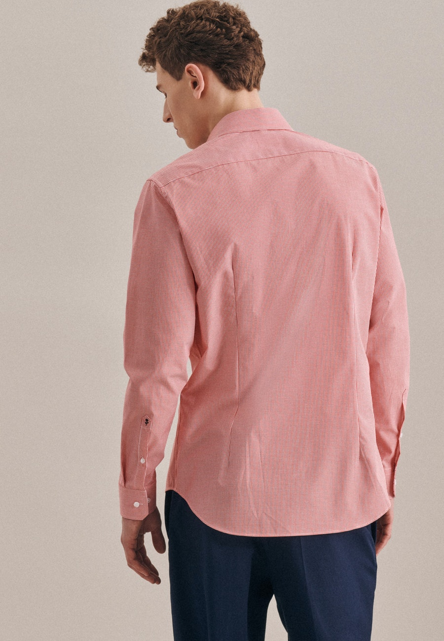 Bügelfreies Popeline Business Hemd in Shaped mit Kentkragen in Rot    Seidensticker Onlineshop