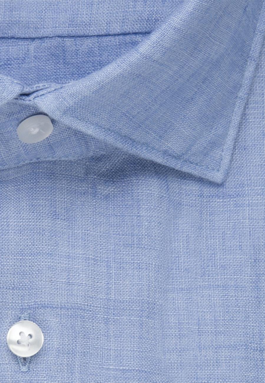 Leinenhemd Uni in Hellblau    Seidensticker Onlineshop