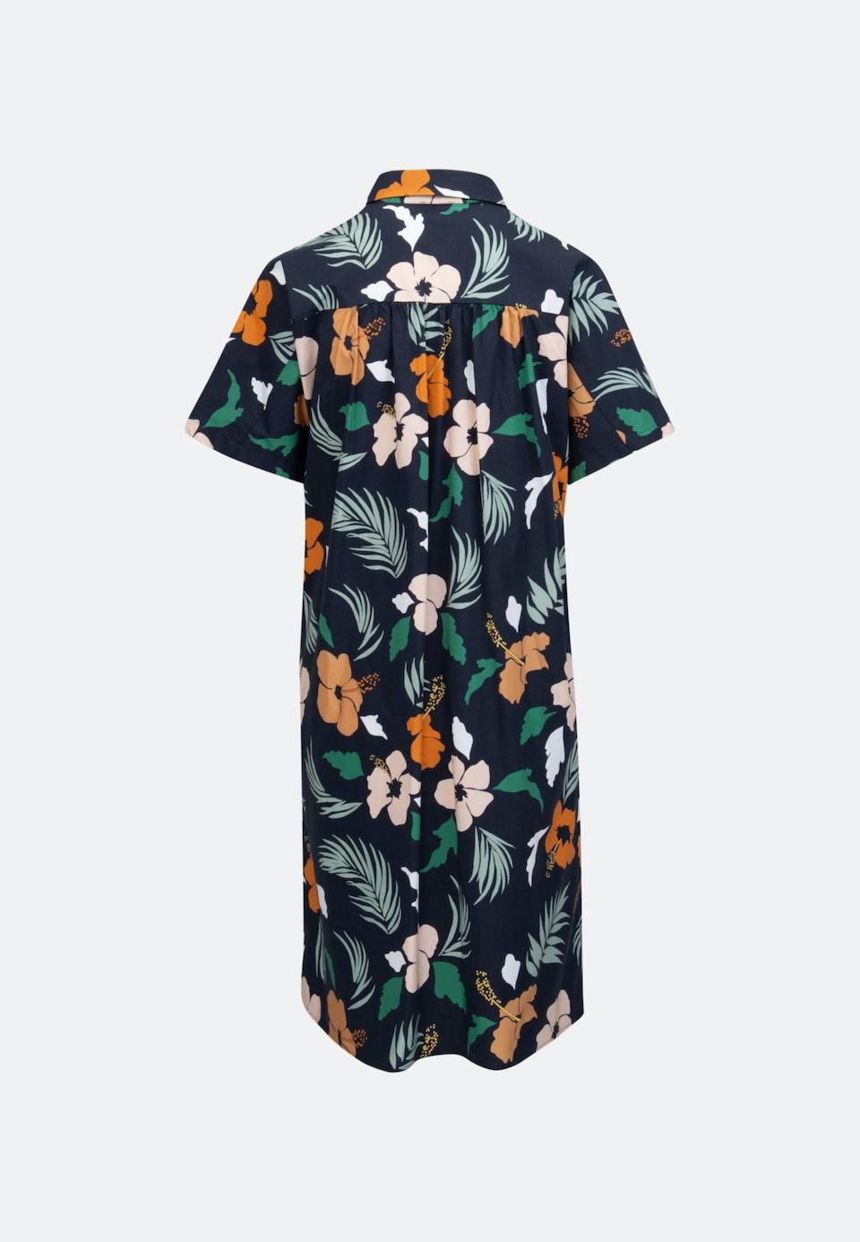 Voile Midi Kleid aus Baumwollmischung in Dunkelblau    Seidensticker Onlineshop