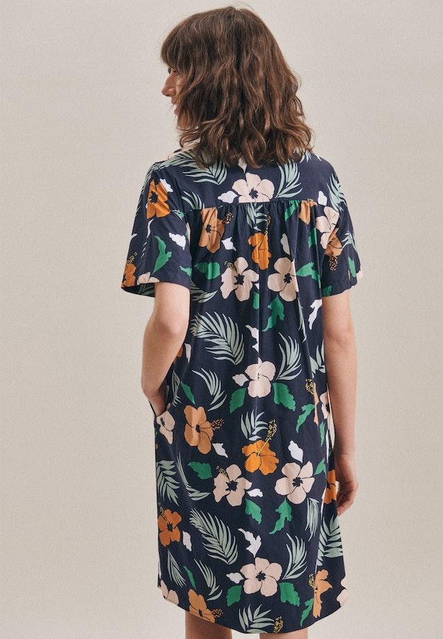 Voile Midi Dress made of cotton blend in Dark blue |  Seidensticker Onlineshop