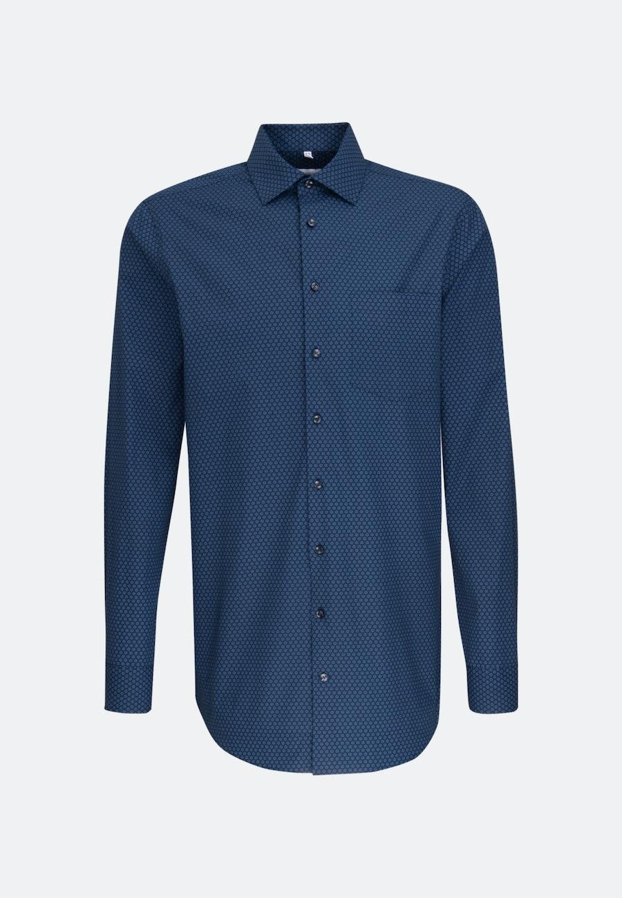 Bügelleichtes Popeline Business Hemd in Regular mit Kentkragen und extra langem Arm in Hellblau |  Seidensticker Onlineshop