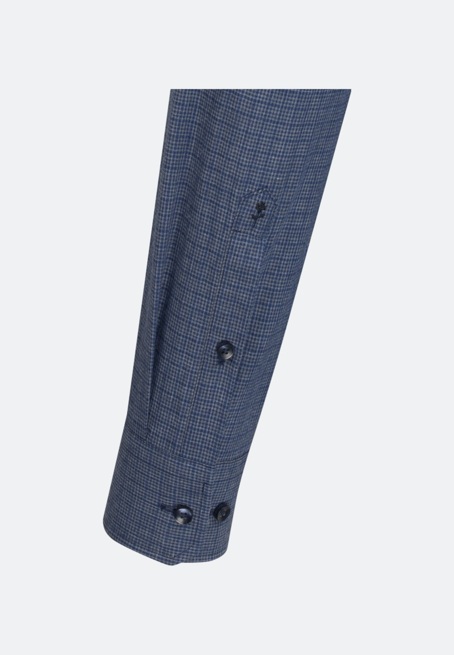 Easy-iron Melange Garne Business Shirt in X-Slim with Kent-Collar and extra long sleeve in Dark blue |  Seidensticker Onlineshop