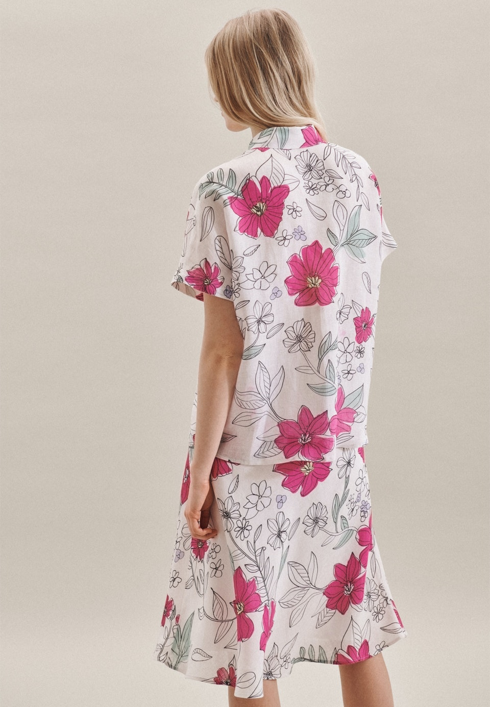 Ärmellose Leinen Hemdbluse aus 100% Leinen in Rosa/Pink    Seidensticker Onlineshop