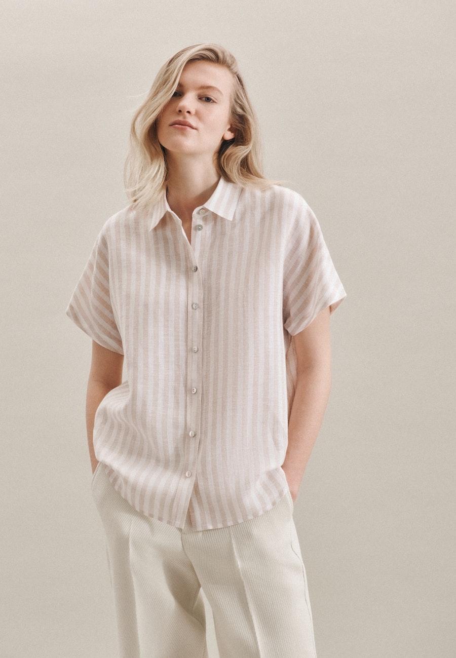 Ärmellose Leinen Hemdbluse aus 100% Leinen in Braun    Seidensticker Onlineshop