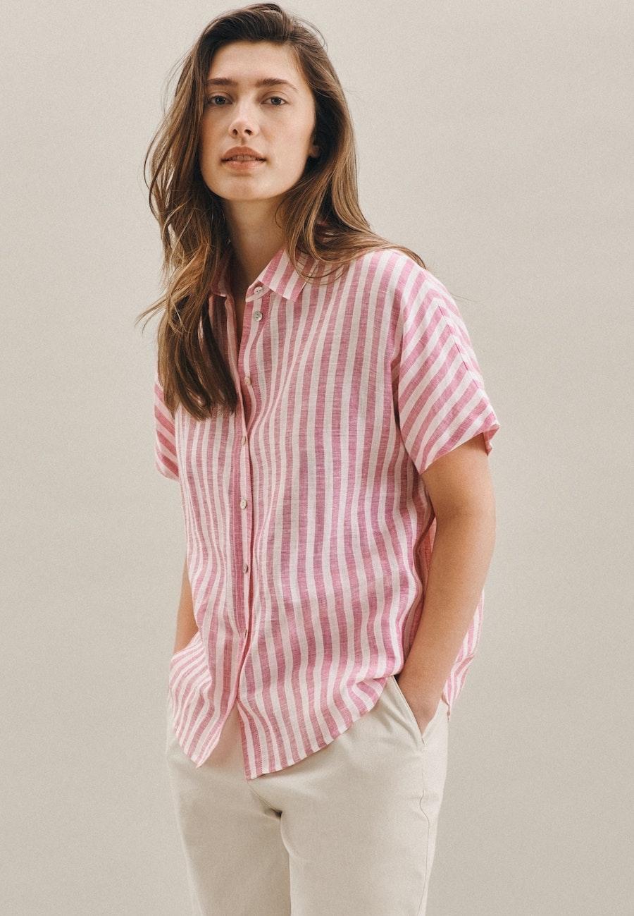 Sleeveless Leinen Shirt Blouse made of 100% Linen in Pink |  Seidensticker Onlineshop
