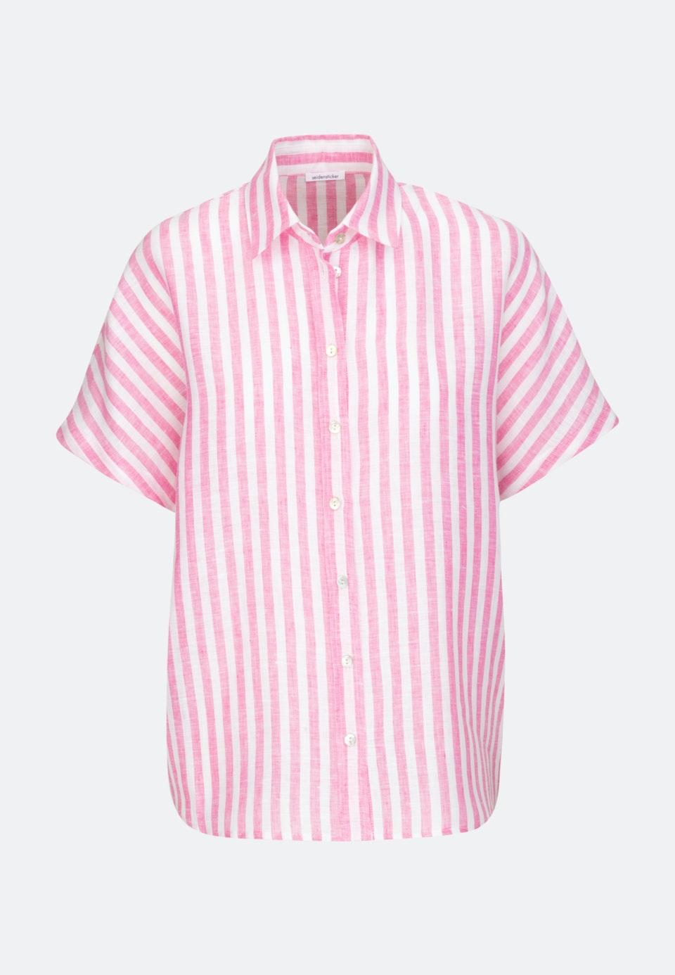 Ärmellose Leinen Hemdbluse aus 100% Leinen in Rosa/Pink |  Seidensticker Onlineshop