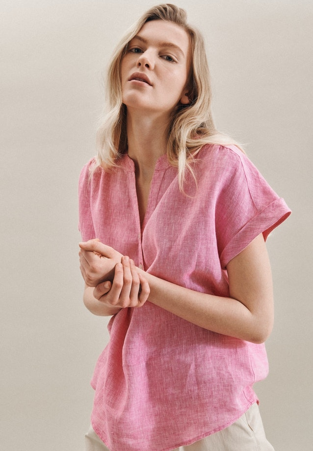 Sleeveless Leinen Shirt Blouse made of 100% Linen in Rosa/Pink |  Seidensticker Onlineshop