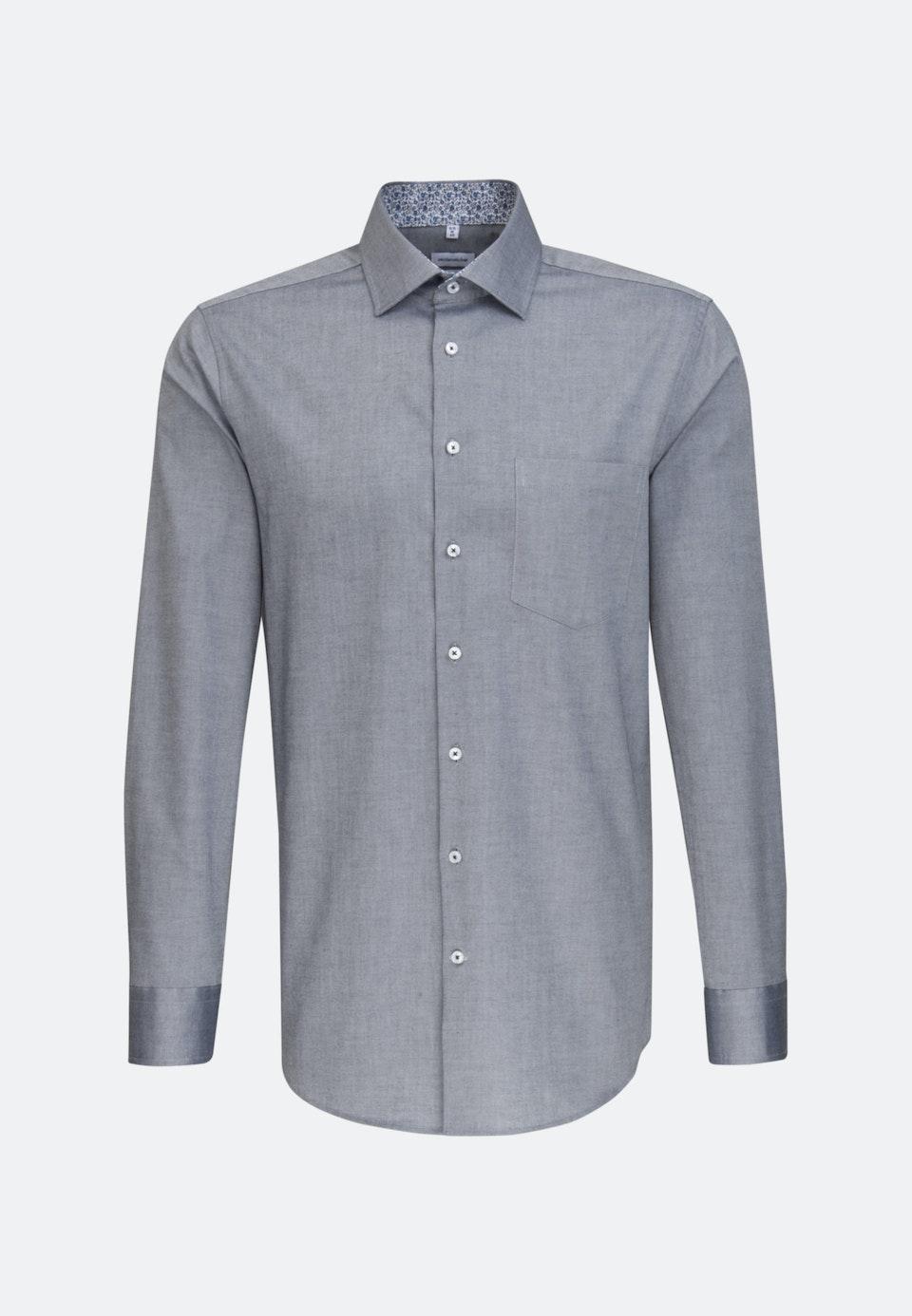 Bügelfreies Oxford Business Hemd in Regular mit Kentkragen in Dunkelblau |  Seidensticker Onlineshop