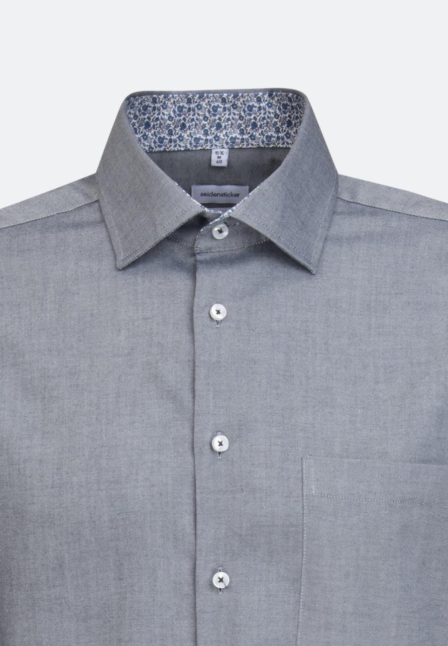 Bügelfreies Oxfordhemd in Regular mit Kentkragen in Dunkelblau    Seidensticker Onlineshop