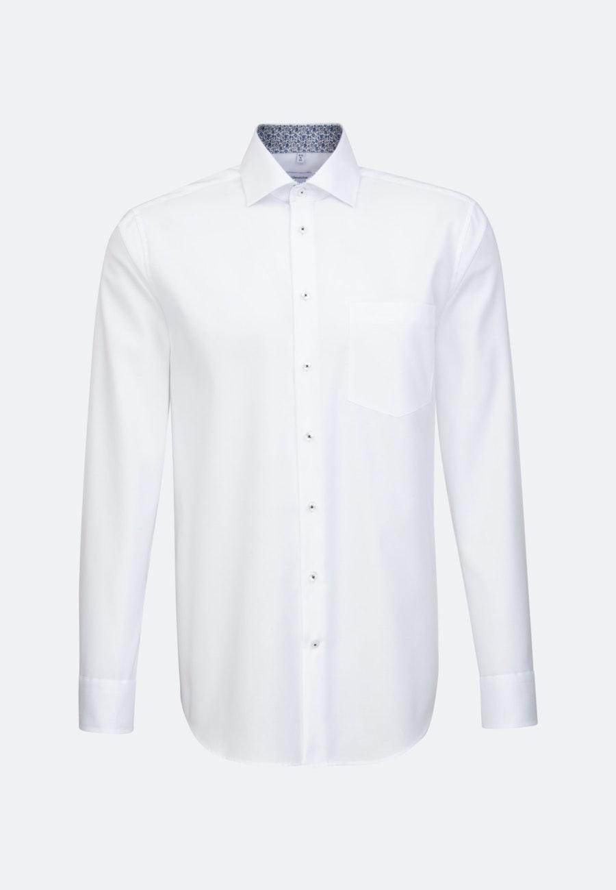 Bügelfreies Oxford Business Hemd in Regular mit Kentkragen in Weiß    Seidensticker Onlineshop