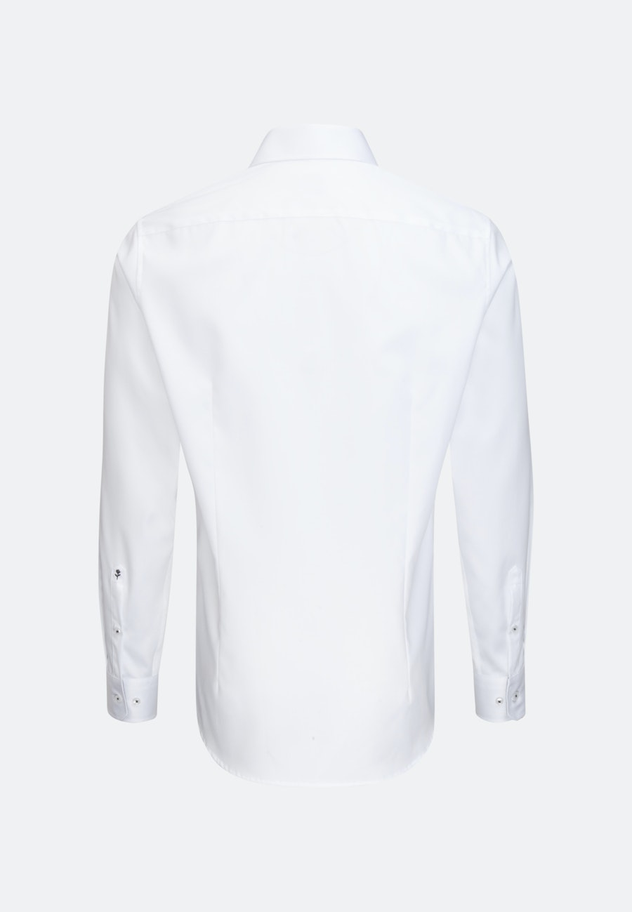 Easy-iron Twill Business Shirt in Shaped with Kent-Collar in White |  Seidensticker Onlineshop
