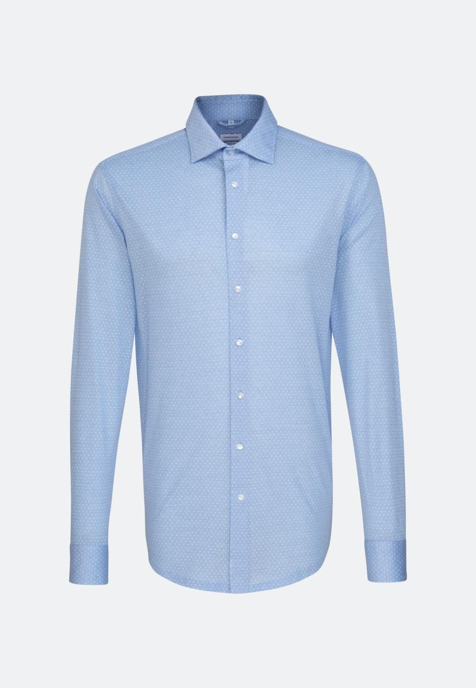 Jersey Business Hemd in Regular mit Kentkragen in Hellblau    Seidensticker Onlineshop