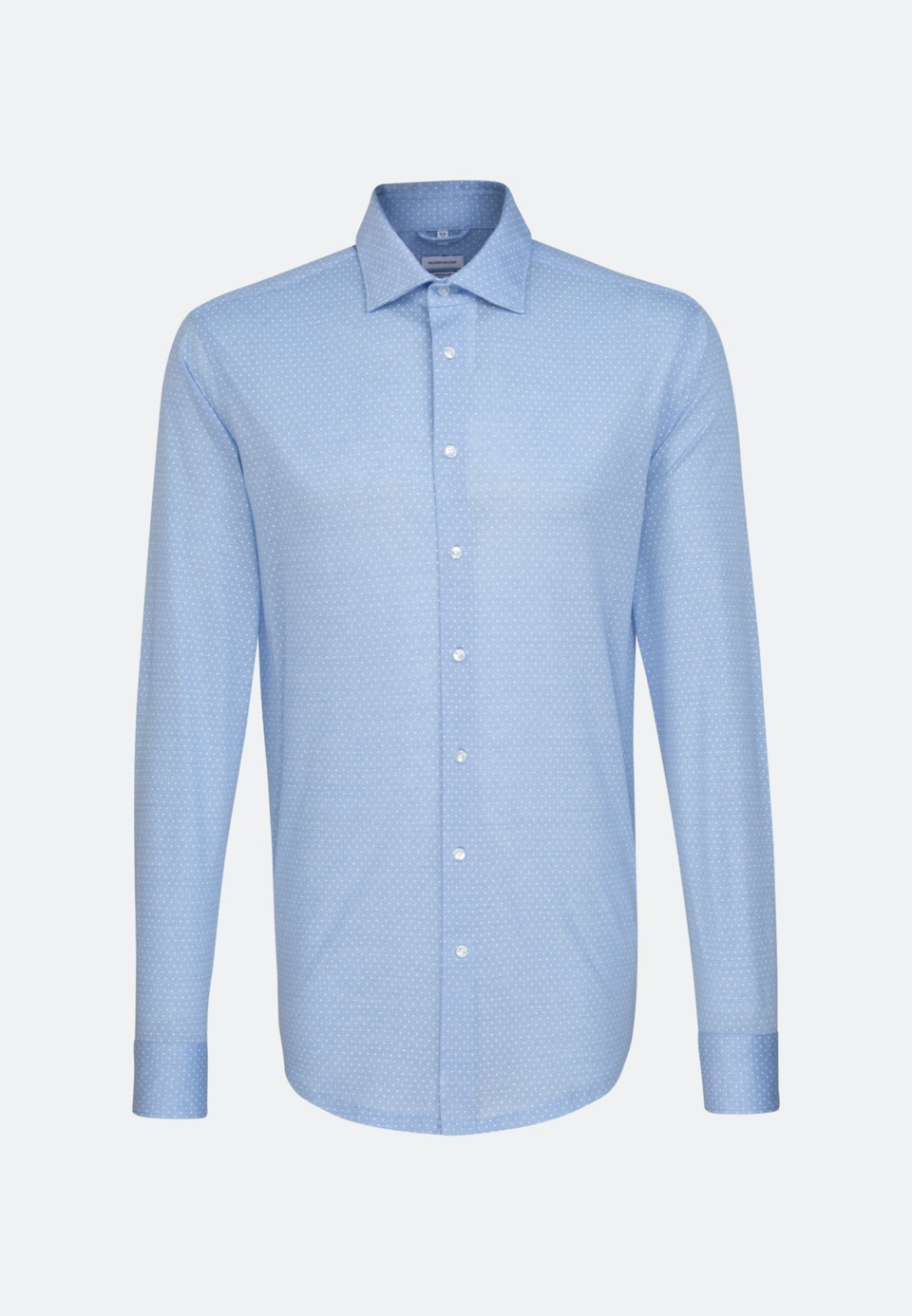Jersey shirt in Regular with Kent-Collar in Light blue |  Seidensticker Onlineshop