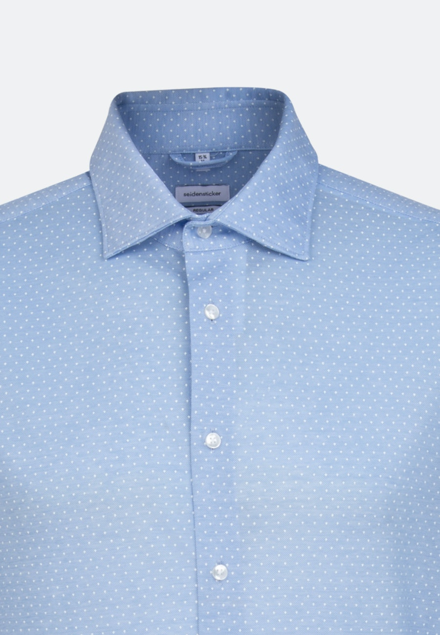 Jersey Business Hemd in Regular mit Kentkragen in Hellblau |  Seidensticker Onlineshop