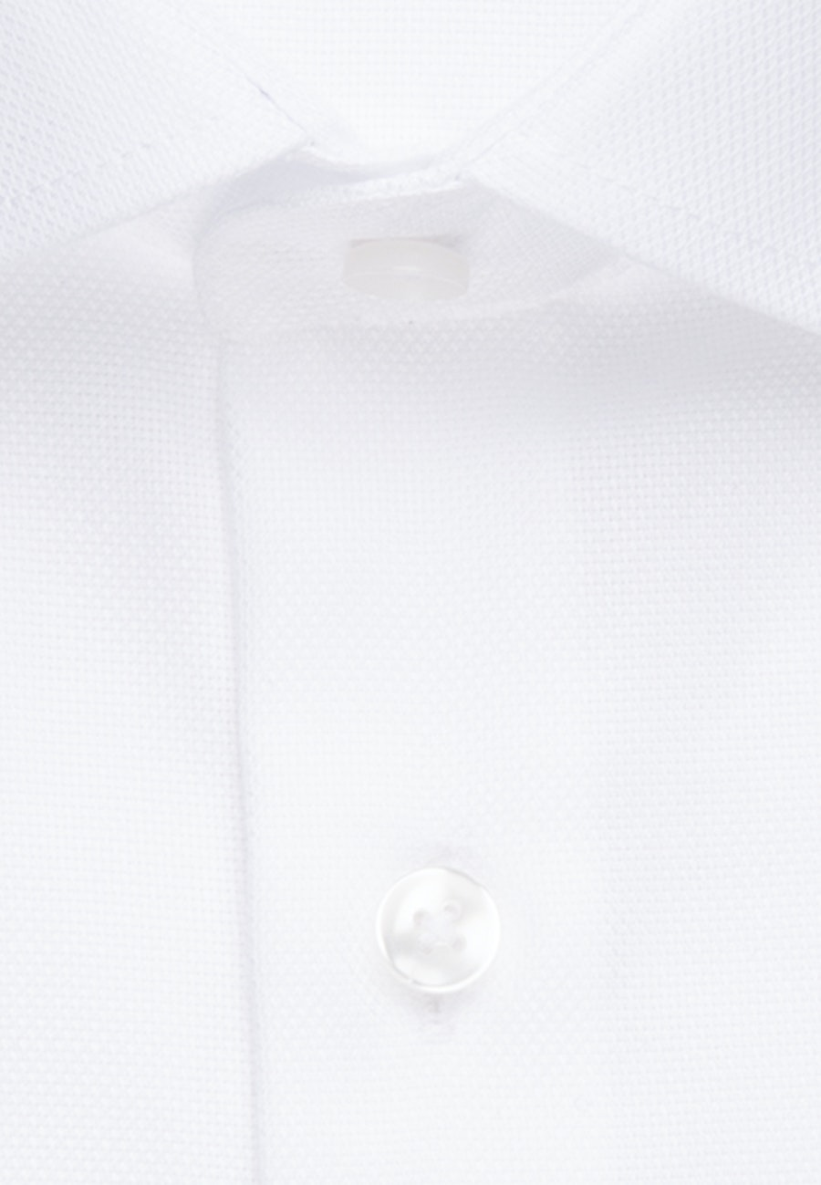 Non-iron Struktur Short sleeve Business Shirt in Shaped with Kent-Collar in White |  Seidensticker Onlineshop