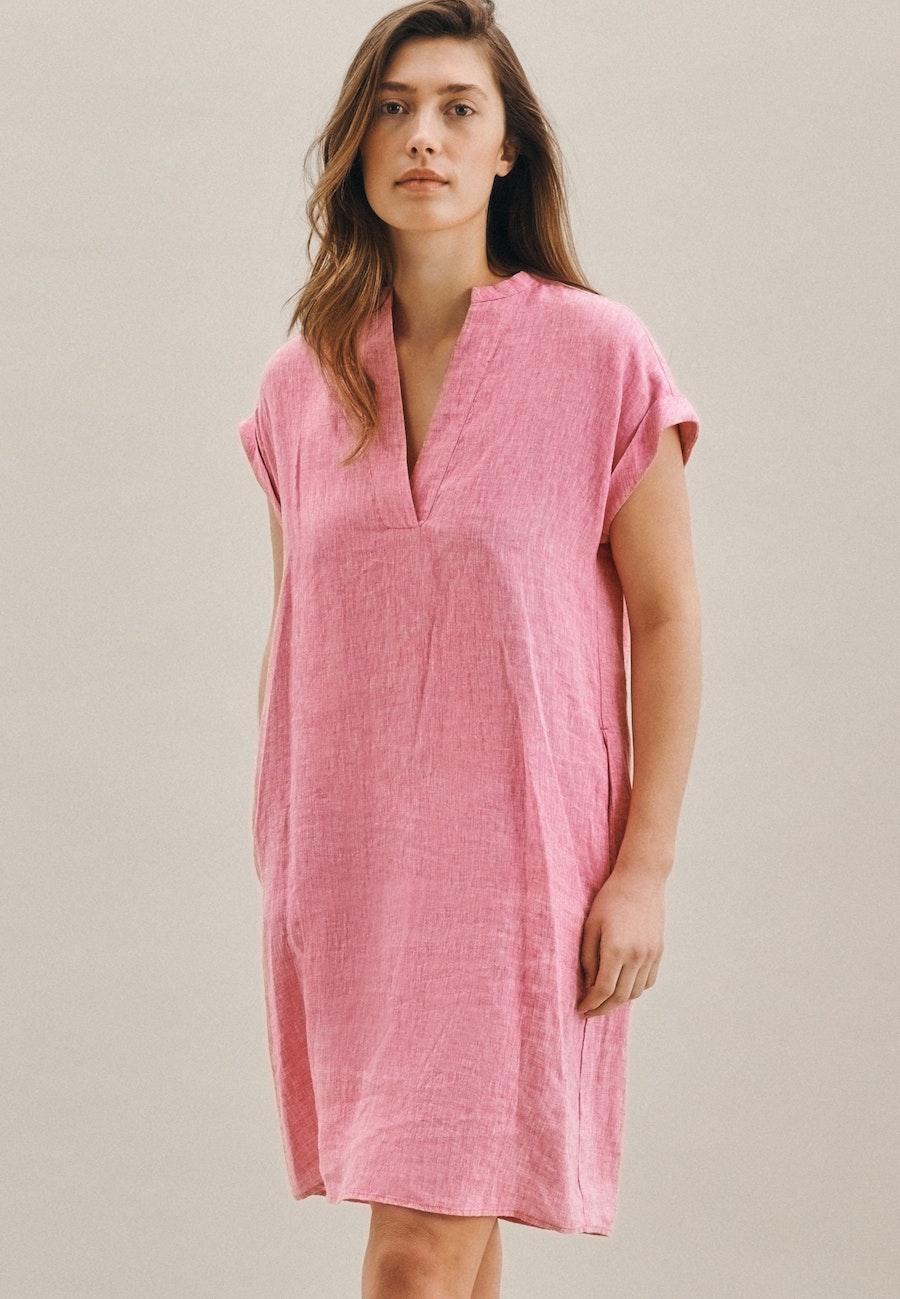 Sleeveless Linen Midi Dress made of 100% Linen in Pink |  Seidensticker Onlineshop