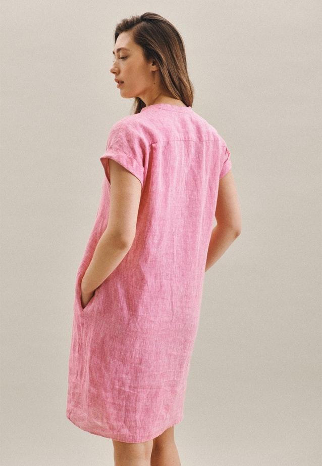 Sleeveless Leinen Midi Dress made of 100% Linen in Pink |  Seidensticker Onlineshop