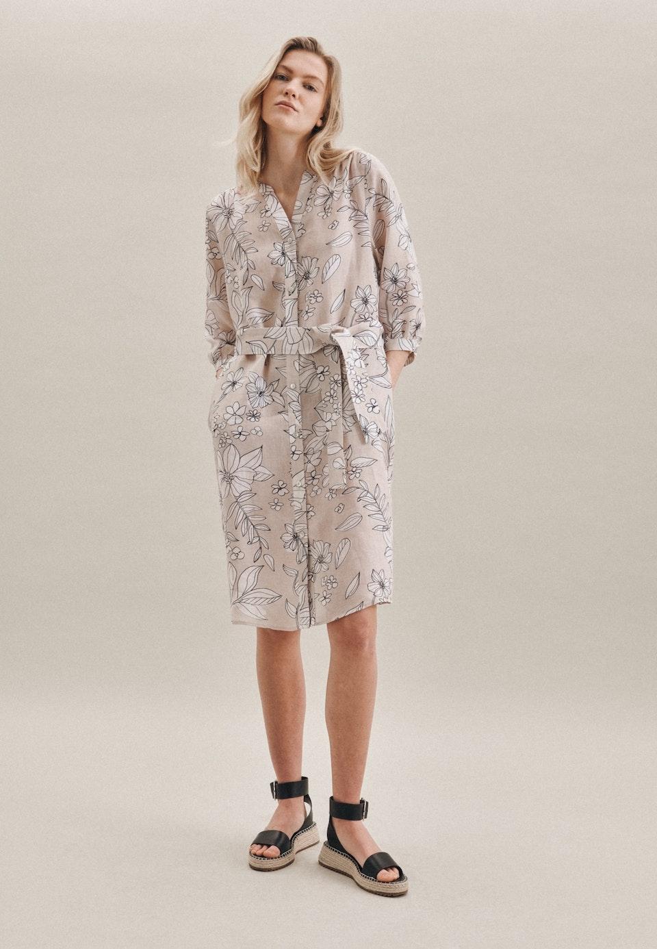 Linen Midi Dress made of 100% Linen in Ecru |  Seidensticker Onlineshop