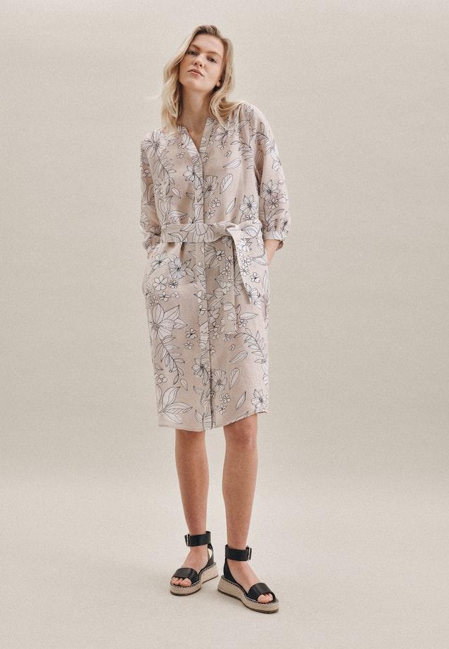 Leinen Midi Kleid aus 100% Leinen in Ecru |  Seidensticker Onlineshop