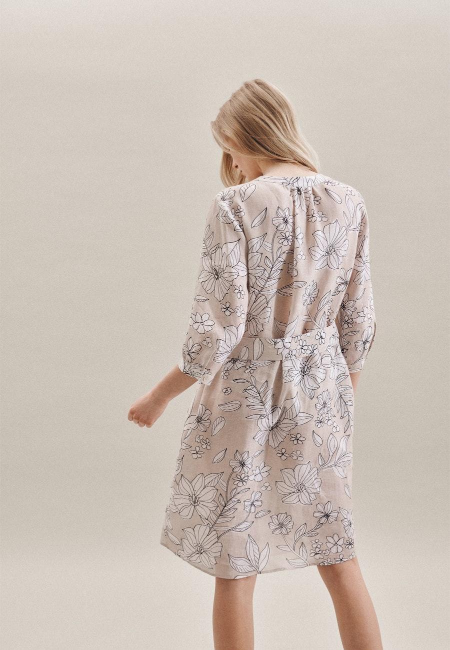 Leinen Midi Dress made of 100% Linen in Ecru |  Seidensticker Onlineshop