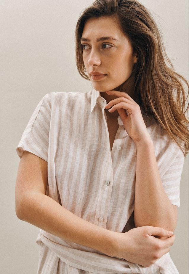 Ärmelloses Leinen Midi Kleid aus 100% Leinen in Braun |  Seidensticker Onlineshop
