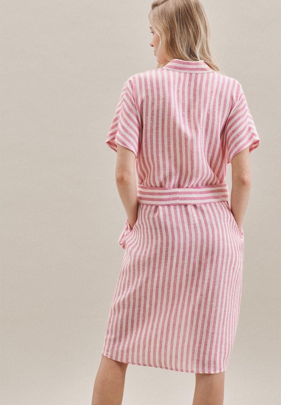 Ärmelloses Leinen Midi Kleid aus 100% Leinen in Rosa/Pink |  Seidensticker Onlineshop