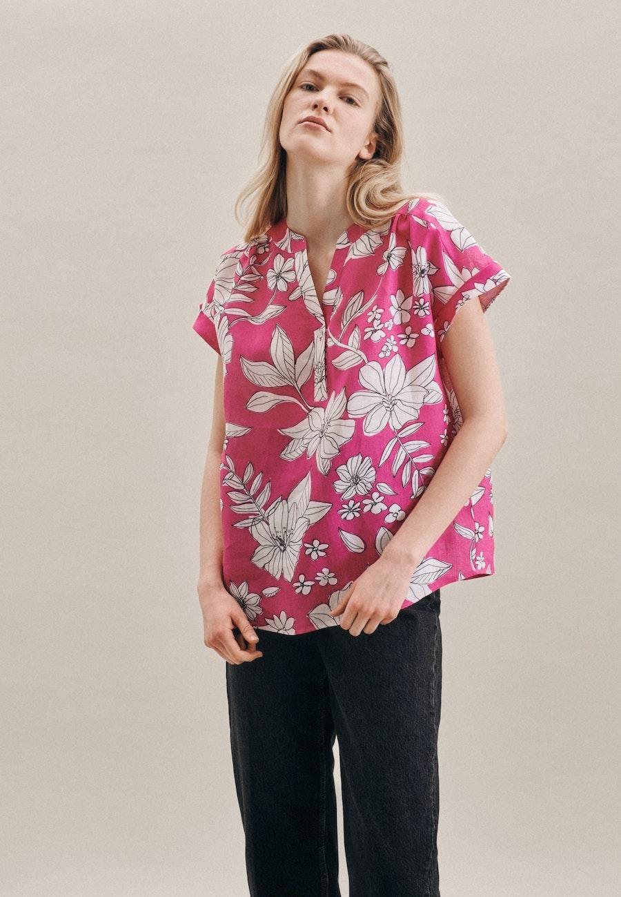 Ärmellose Leinen Schlupfbluse aus 100% Leinen in Rosa/Pink    Seidensticker Onlineshop