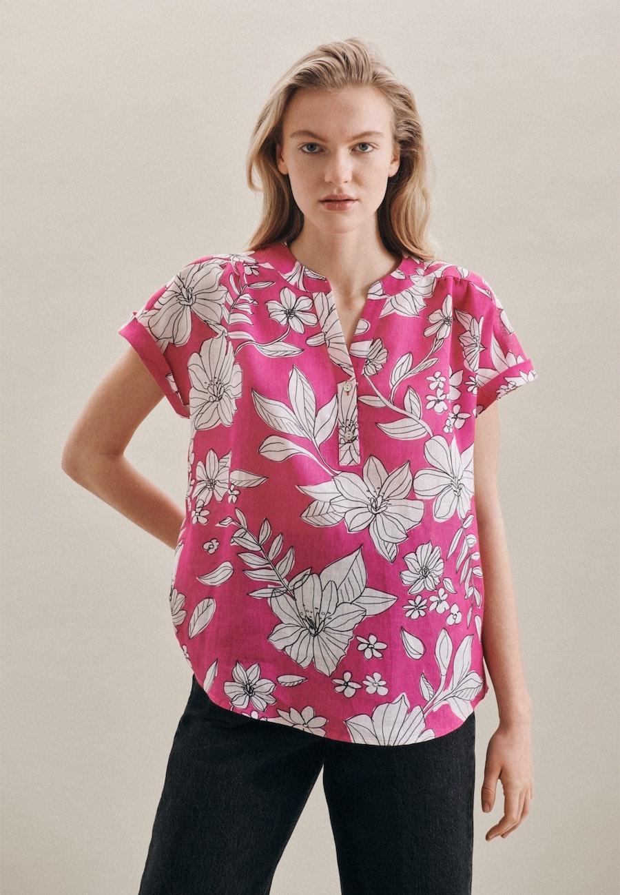 Sleeveless Leinen Slip Over Blouse made of 100% Linen in Pink |  Seidensticker Onlineshop