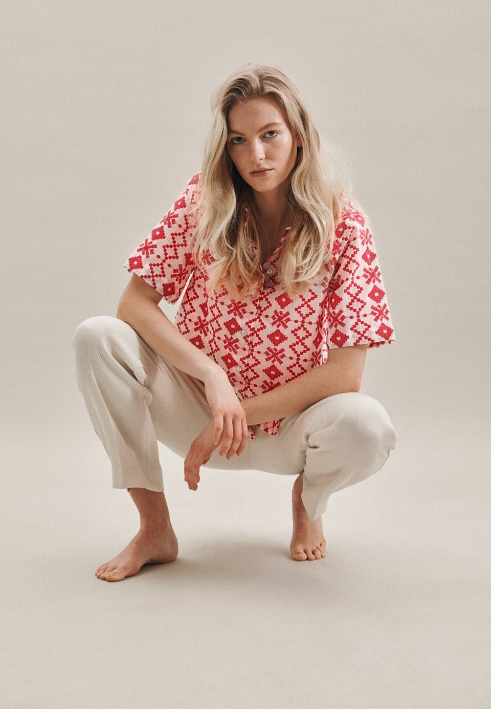 Short sleeve Voile Shirt Blouse made of 100% Cotton in Pink |  Seidensticker Onlineshop