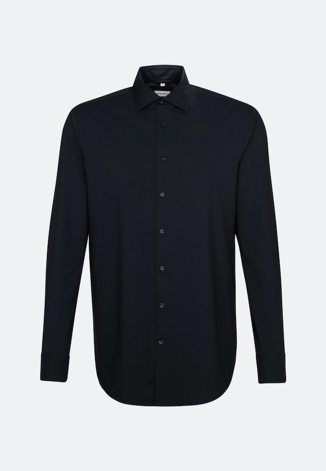 Twill Business Shirt in Slim with Kent-Collar in Black |  Seidensticker Onlineshop