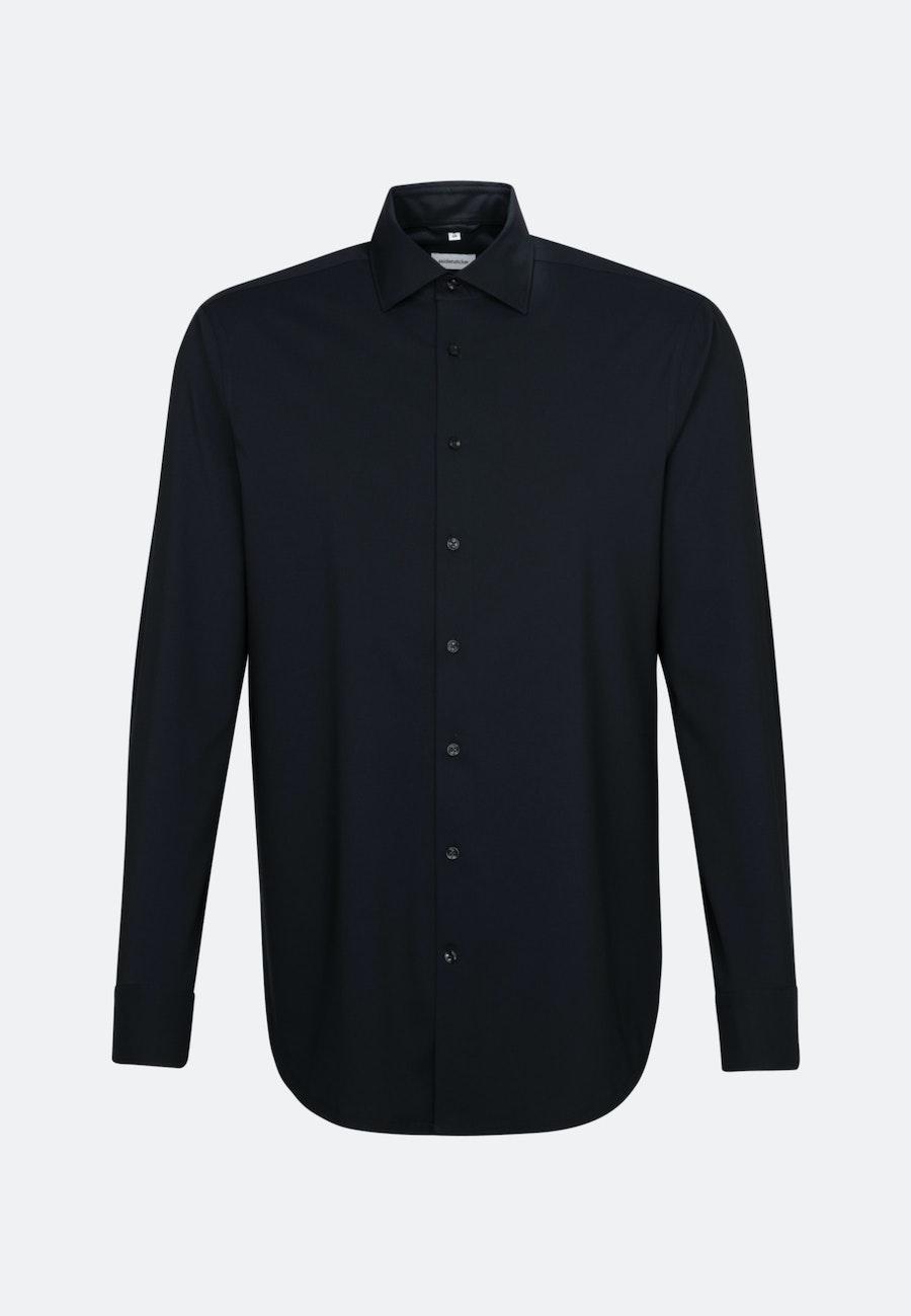 Twill Business Hemd in Slim mit Kentkragen in Schwarz |  Seidensticker Onlineshop