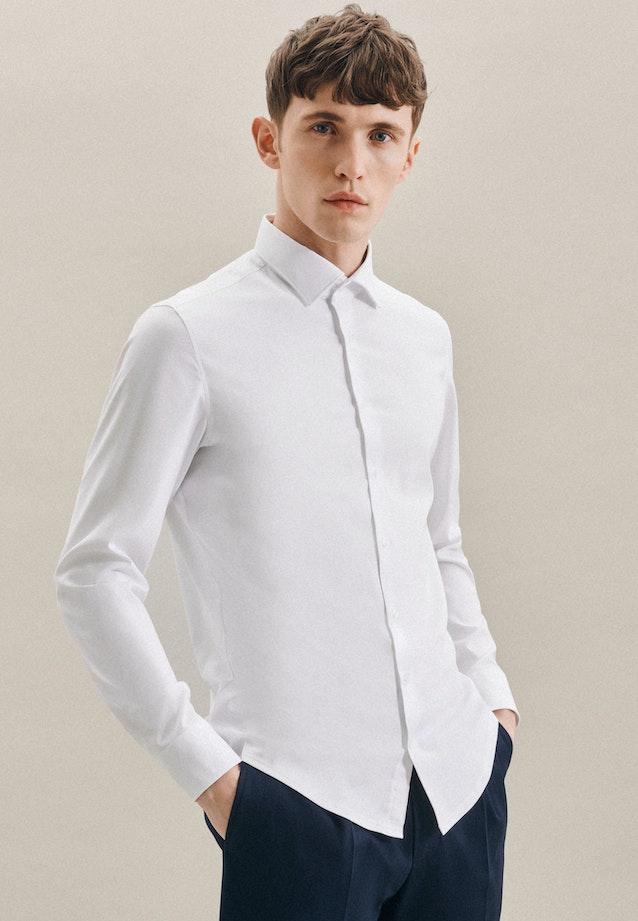 Twill Business Hemd in Slim mit Kentkragen in Weiß    Seidensticker Onlineshop