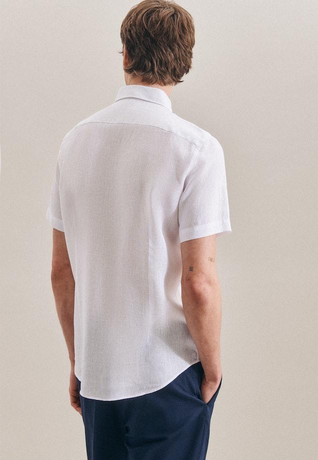 Leinenhemd Uni in Weiß    Seidensticker Onlineshop