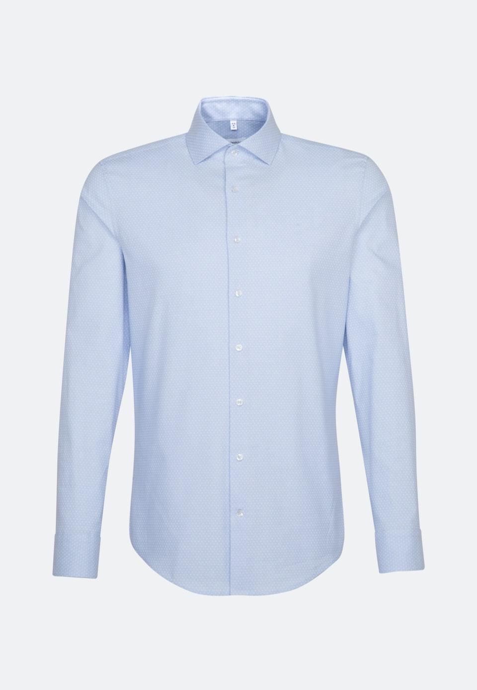 Bügelleichtes Oxford Business Hemd in Slim mit Kentkragen und extra langem Arm in Hellblau |  Seidensticker Onlineshop