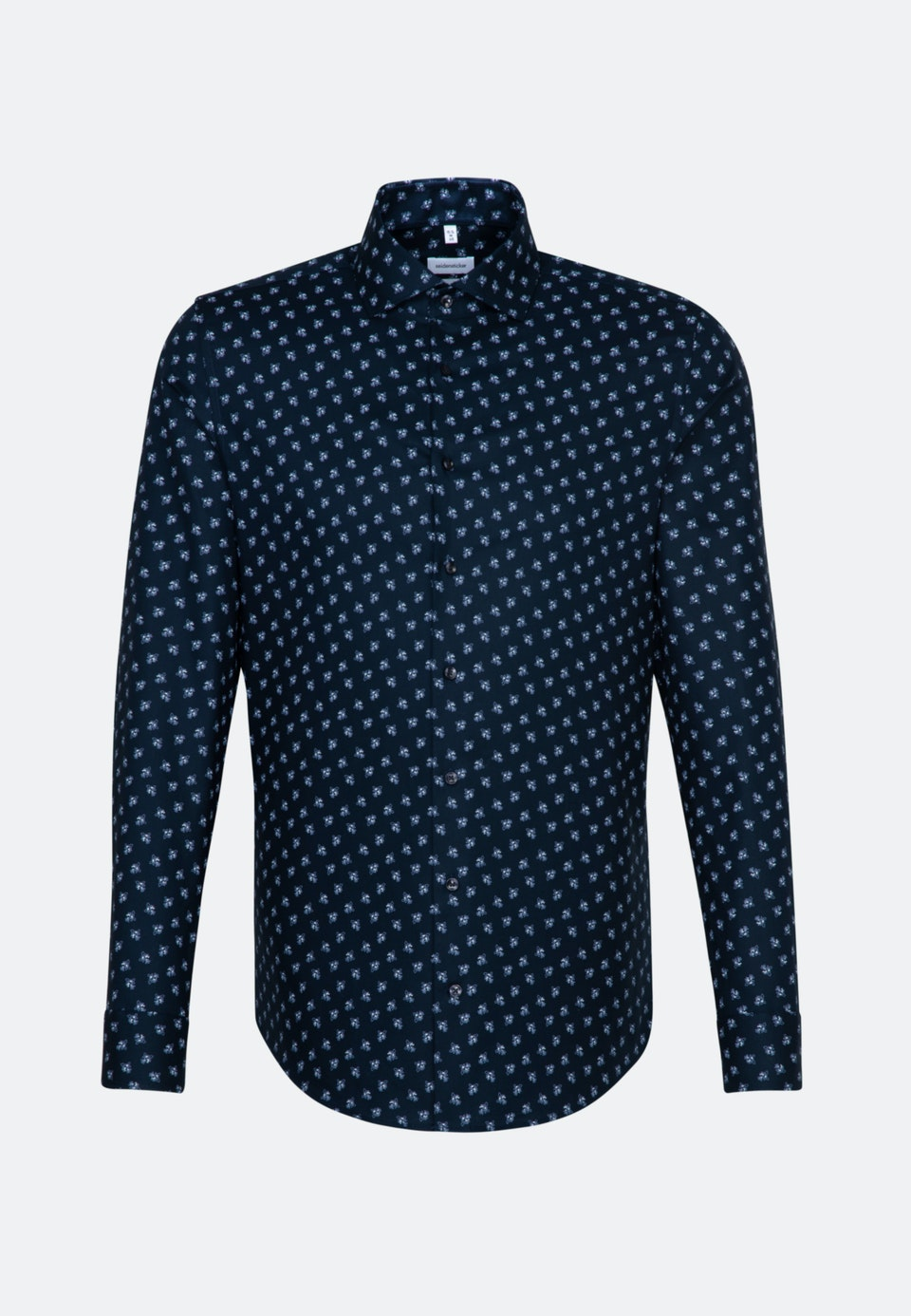 Easy-iron Oxford Business Shirt in Slim with Kent-Collar and extra long sleeve in Dark blue |  Seidensticker Onlineshop